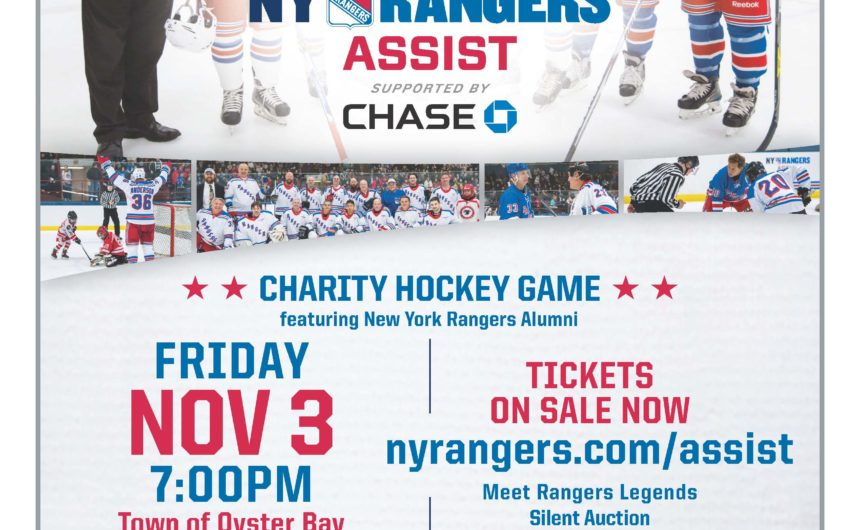 Saladino:  Town to Host New York Rangers Alumni Association Benefit Game