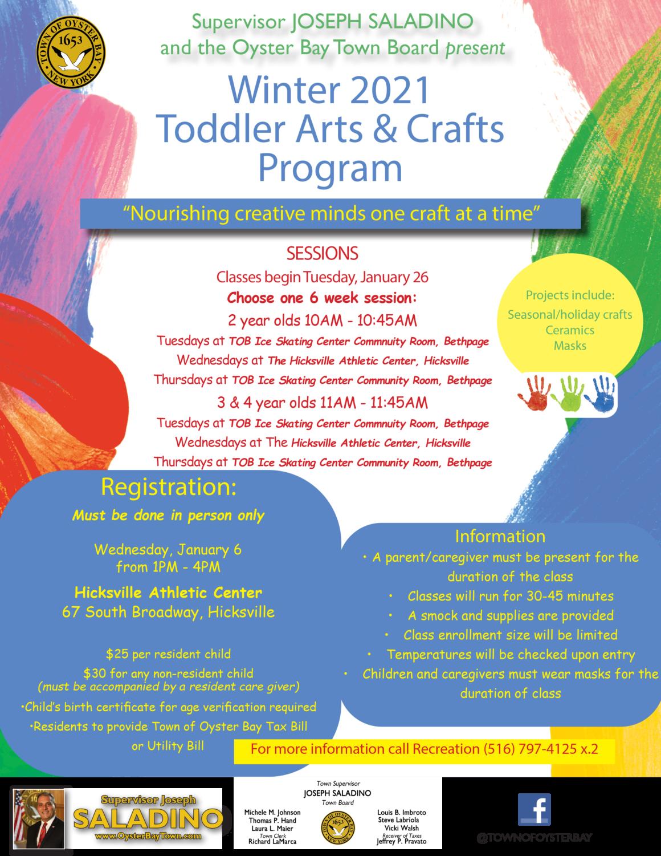 Councilwoman Johnson Announces Winter 2021 Toddler Arts and Crafts Program