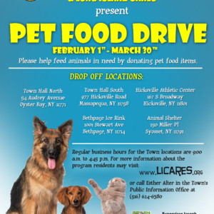 Saladino, Johnson Partner with LI Cares to Host Local Pet Food Drive