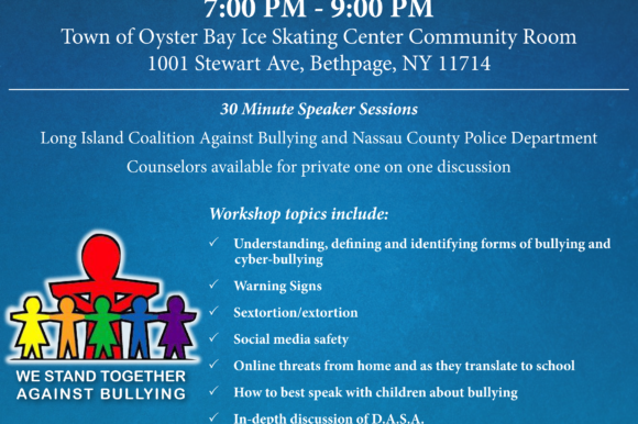Saladino, Alesia Announce Free Anti-Bullying Parents Workshop