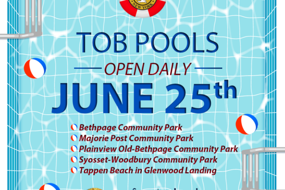 All Town Pools Open Daily Beginning June 25th