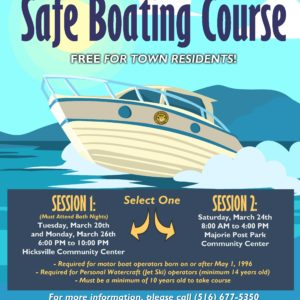 Saladino and Johnson Announce Free  Boating Safety Seminar