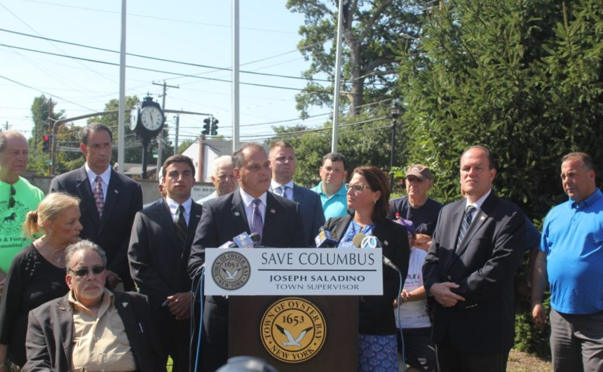 Saladino, Councilmembers and Clerk Partner with Local Italian-Americans in urging NYC Mayor & Radical Officials to Send Columbus Statues to Massapequa if Removed