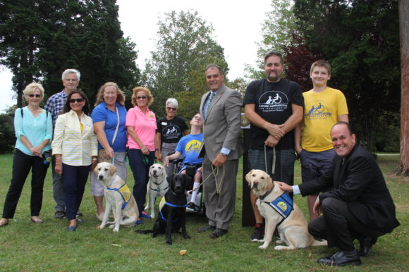 Saladino, Hand Partner with Canine Companions for Independence for LI Dogfest Walk 'N Roll