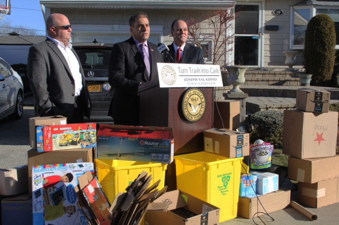 Saladino & Hand Remind Residents to Turn Trash Into Cash With Single Stream Recycling This Holiday Season