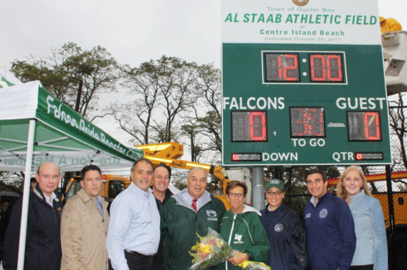 Saladino Dedicates Centre Island Beach Field in Honor of Bayville Youth Athletic Advocate Al Staab