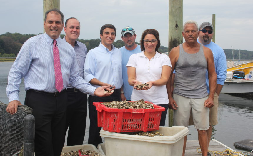 Saladino and Johnson Reseed Harbor with 250,000 Oysters