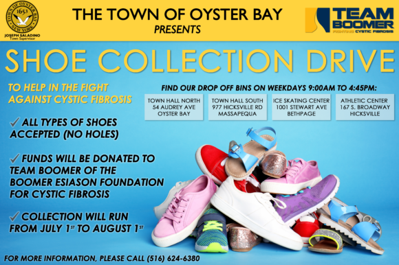 Town Partners with Team Boomer to Host Shoe Collection Drive