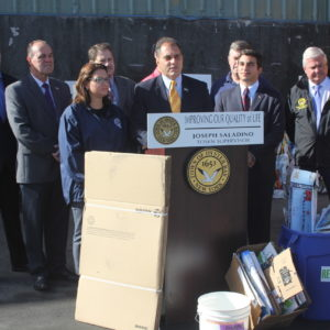 Saladino & Johnson Kick Off Single Stream Recycling and Welcome Back First Fleet of Vehicles