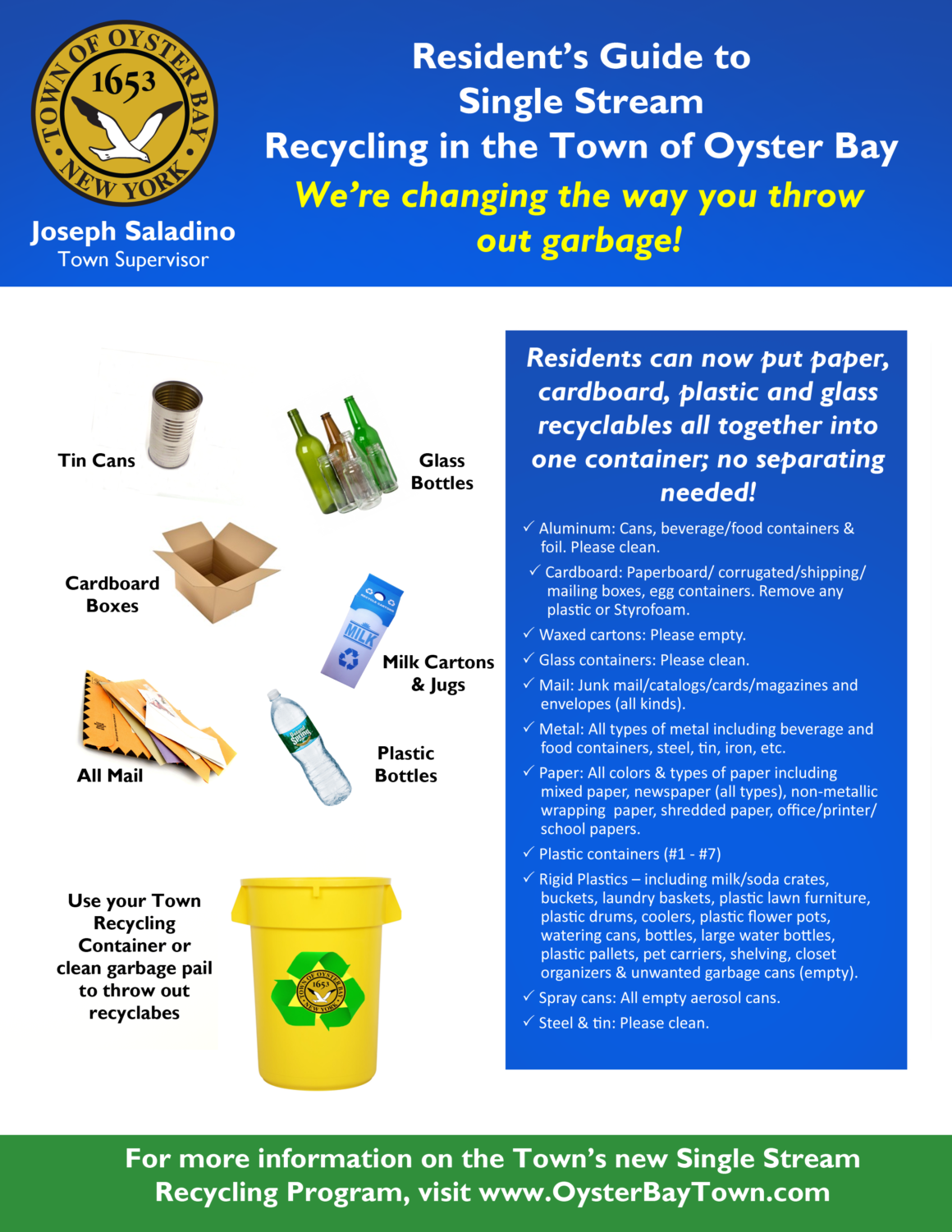 Single Stream Recycling Initiative Gets Underway October 23