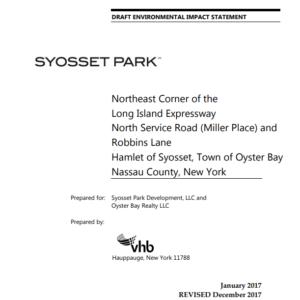Information on Syosset Park Draft EIS