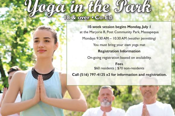 Saladino Announces New Yoga in the Park Program at Marjorie Post Park