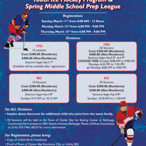 Imbroto Announces Registration for Youth Hockey Program & Middle School Prep League