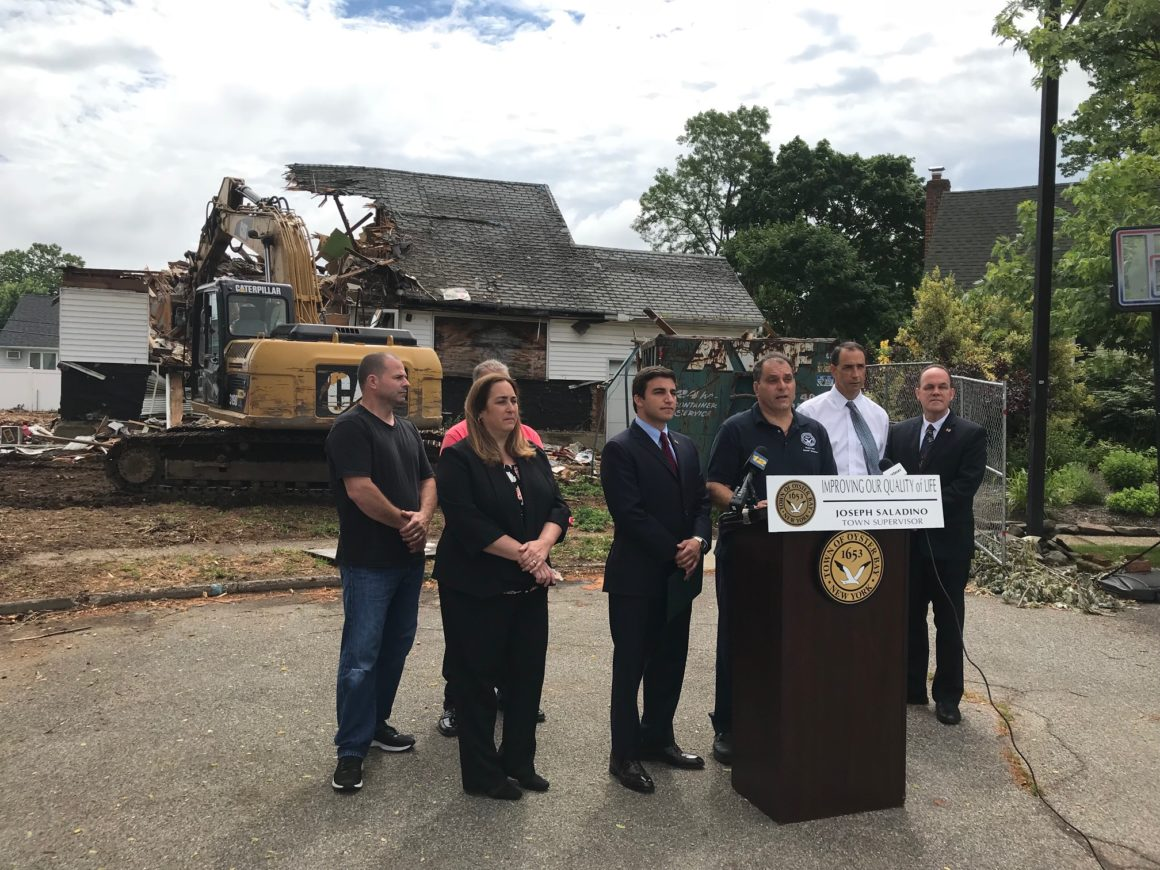 Town Fulfills Pledge to Protect Quality of Life as Zombie Home Comes Down in Farmingdale