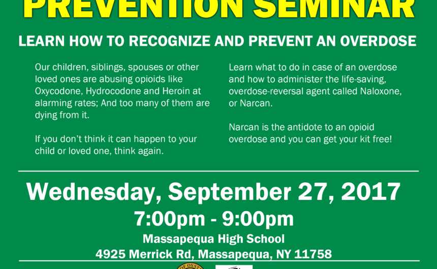 Saladino and Imbroto announce Free Overdose Prevention Seminar in partnership with YES Community Center