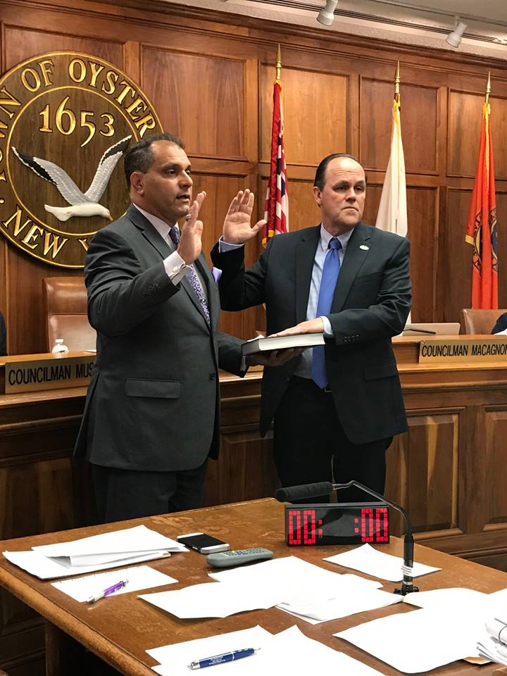 The Town of Oyster Bay is pleased to welcome new Councilman Thomas P. Hand