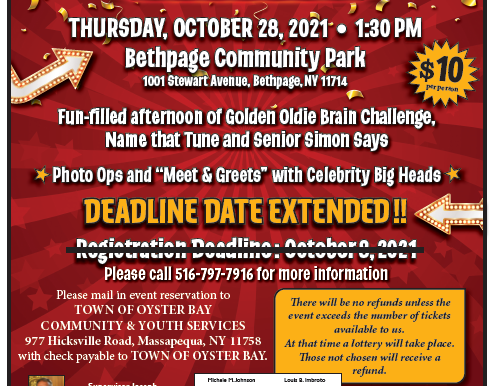 Town Seniors Invited to Live Game Show Day at Bethpage Community Park